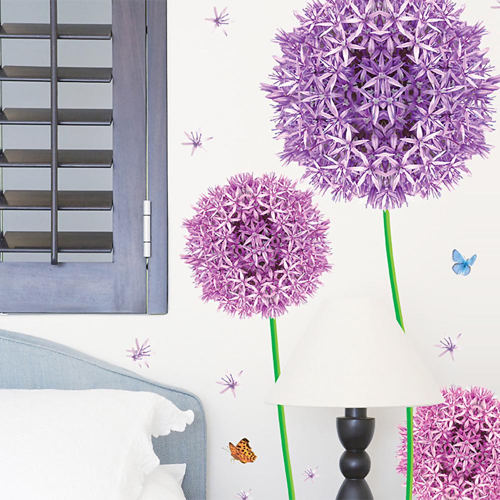 Poco Tapeten Schwarz Wei? : Purple Nursery Wall Stickers