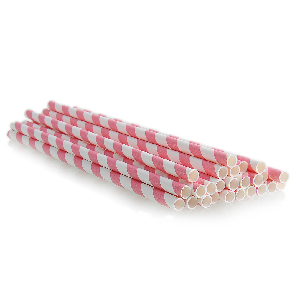 57BD-25pcs-Multi-Color-Striped-Paper-Drinking-Straws-Wedding-Party-Decoration