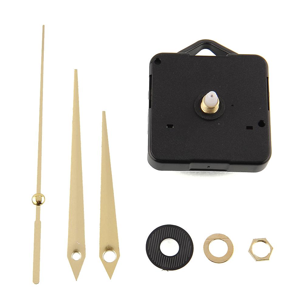 diy quarz uhrwerk teil reparatur werkzeug set zum basteln golden zeiger ebay. Black Bedroom Furniture Sets. Home Design Ideas