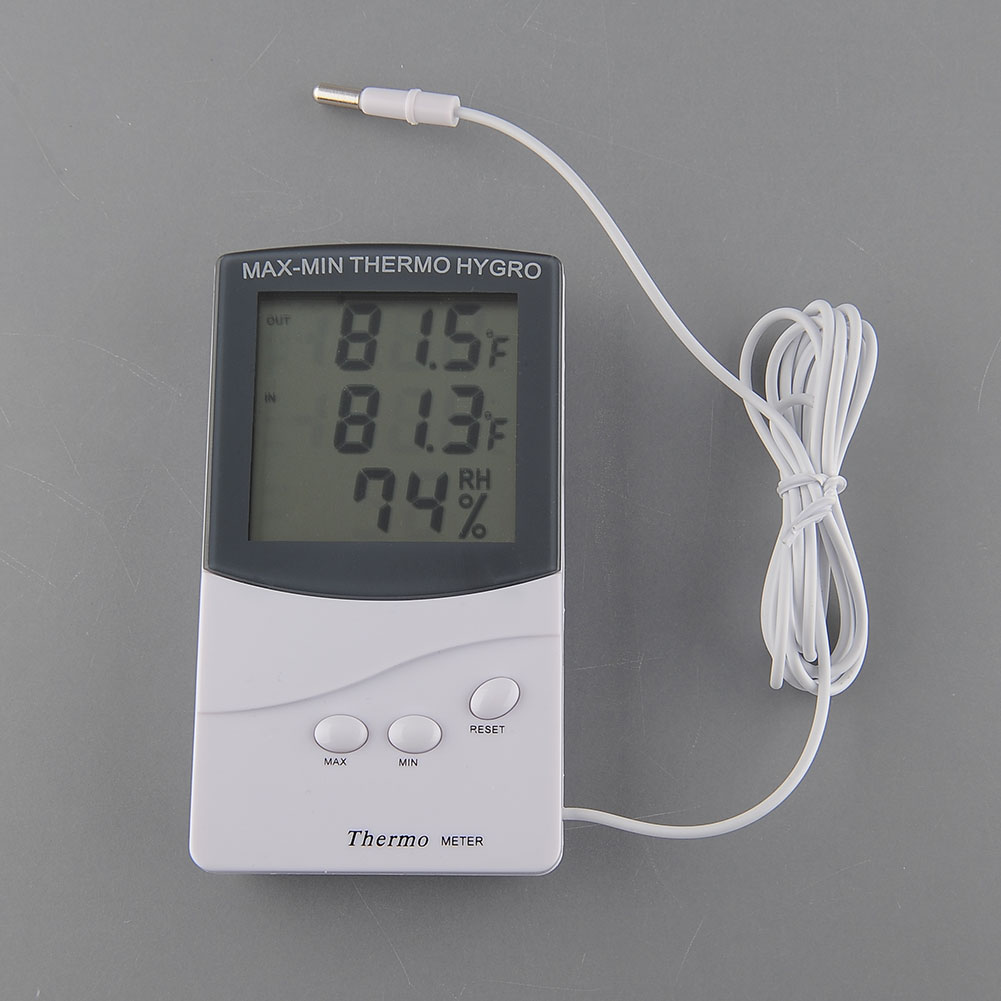 lcd digital innen au en thermometer hygrometer temperatur luftfeuchtigkeit neu ebay. Black Bedroom Furniture Sets. Home Design Ideas