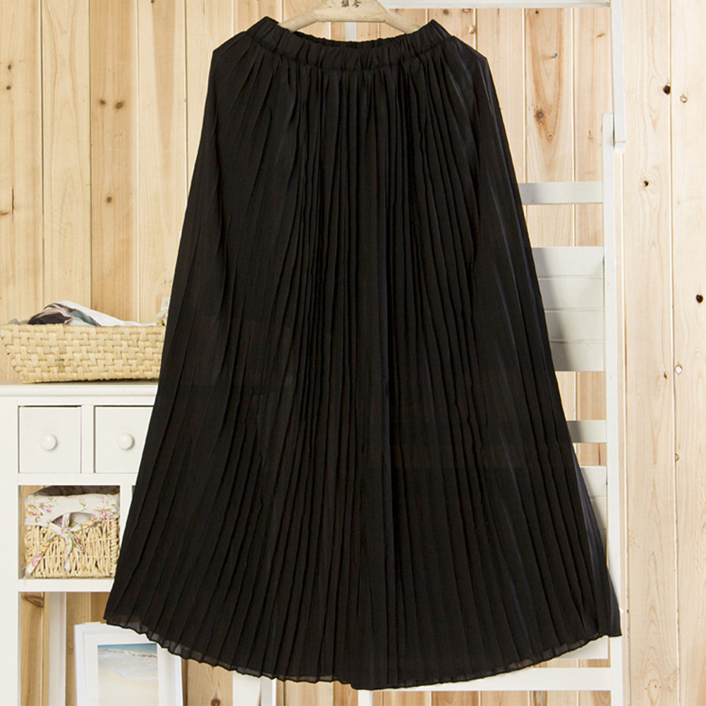 e9def679bba Hot NEW Womens Chiffon Pleated Long Maxi Full Skirt .
