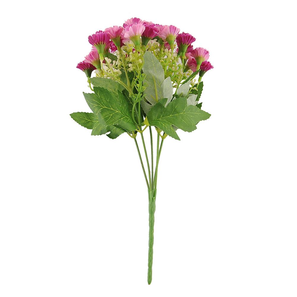25 Heads Artificial Fake Silk Carnation Flower Bouquet Home Wedding Decor