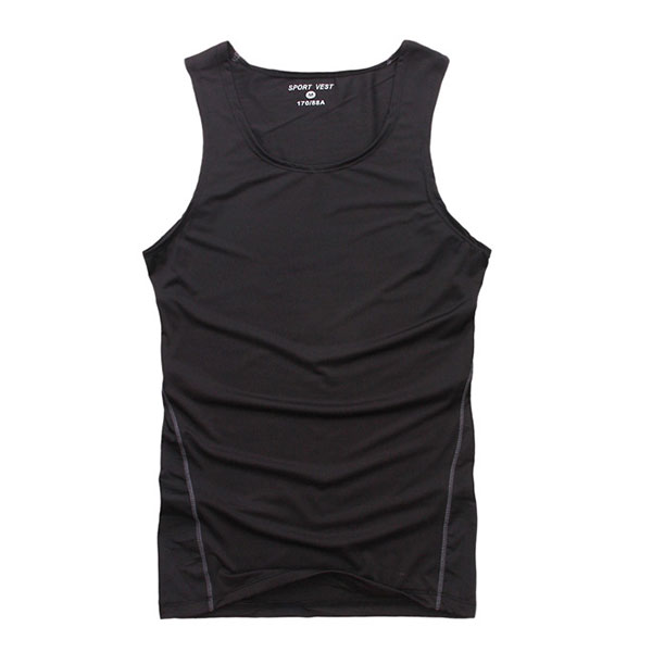 Summer Mens Elastic Sleeveless Tank Tights Tops Shirts Sports Vest Blouse