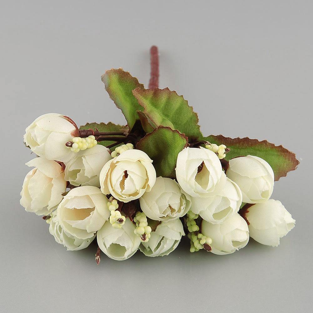 15st bund seide k nstliche rose blumen f r hochzeit haus. Black Bedroom Furniture Sets. Home Design Ideas