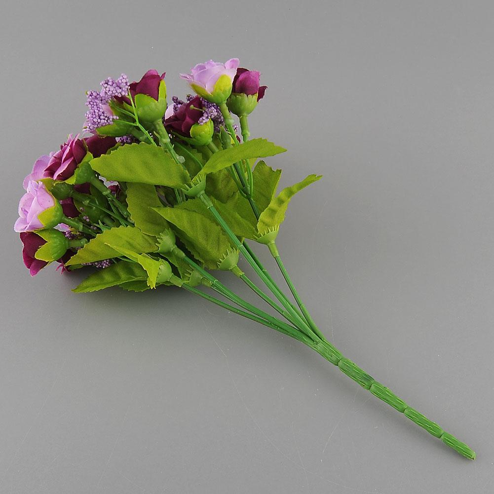 21pcs Artificial Flower Fake Silk Flower Arrangement Wedding Party Garden Decor