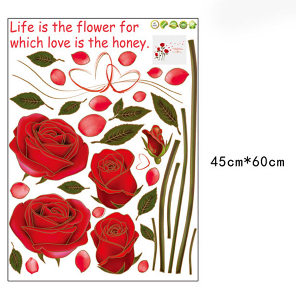 neu rote rose abnehmbare zitat wandaufkleber wandtattoo haus zimmer diy ebay. Black Bedroom Furniture Sets. Home Design Ideas