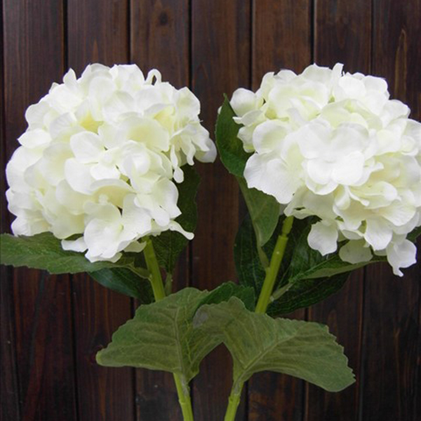 Faux artificial silk floral flower bouquet hydrangea party for Fake flowers for crafts