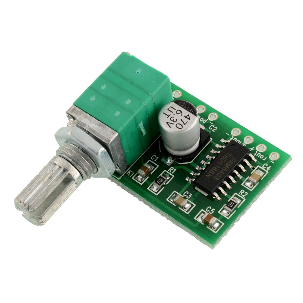 pam8403 5v audio stereo mp3 amplifier board 2 channel 3w control