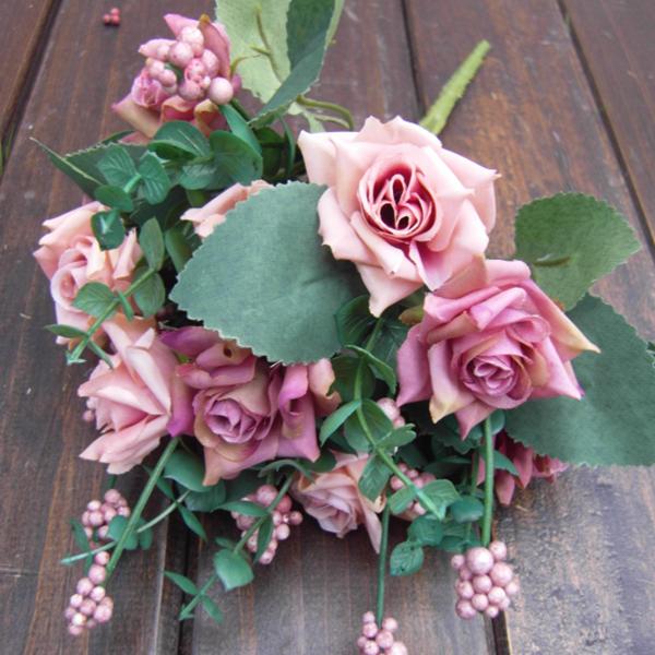 1Bunch Artificial False Rose Silk Flowers Home Decor Flower Arrangment