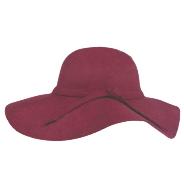 Stylish Women's Lady Wide Brim Wool Bowler Fedora Hat Sun Beach Bowknot Cap