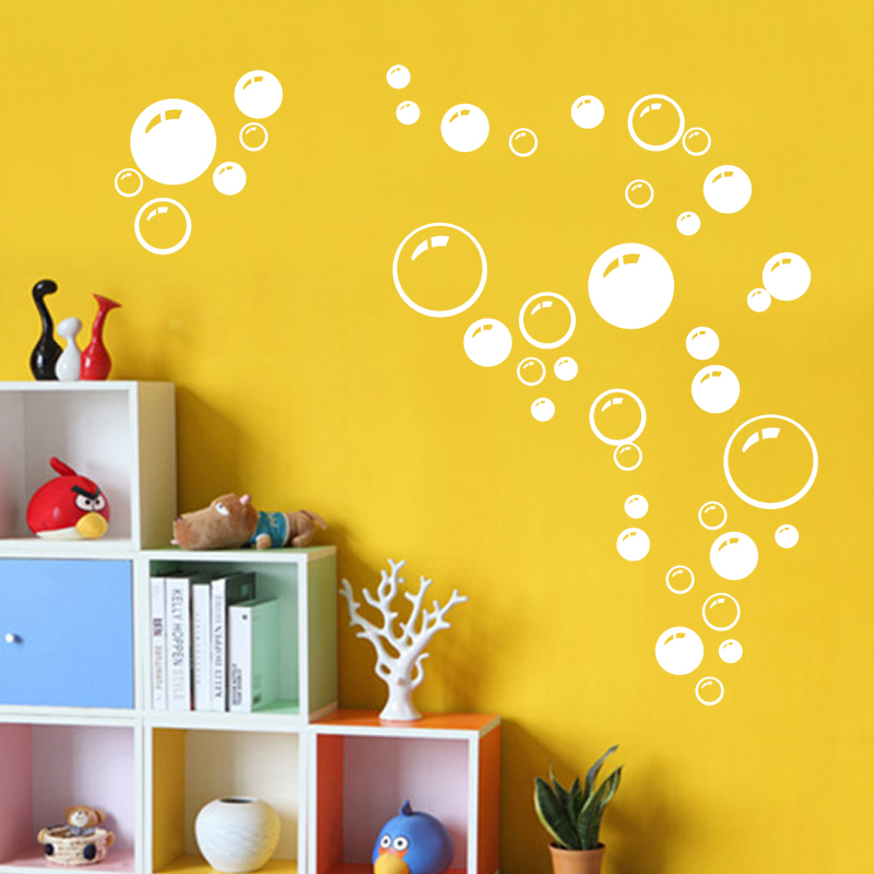 Hot 86 Bubbles Wall Bathroom Tile Shower Art Decal Sticker Decoration