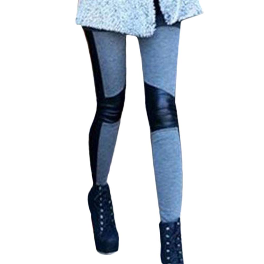 New Sexy Women Skinny Slim PU Leather Elastic Stretchy Pencil Leggings