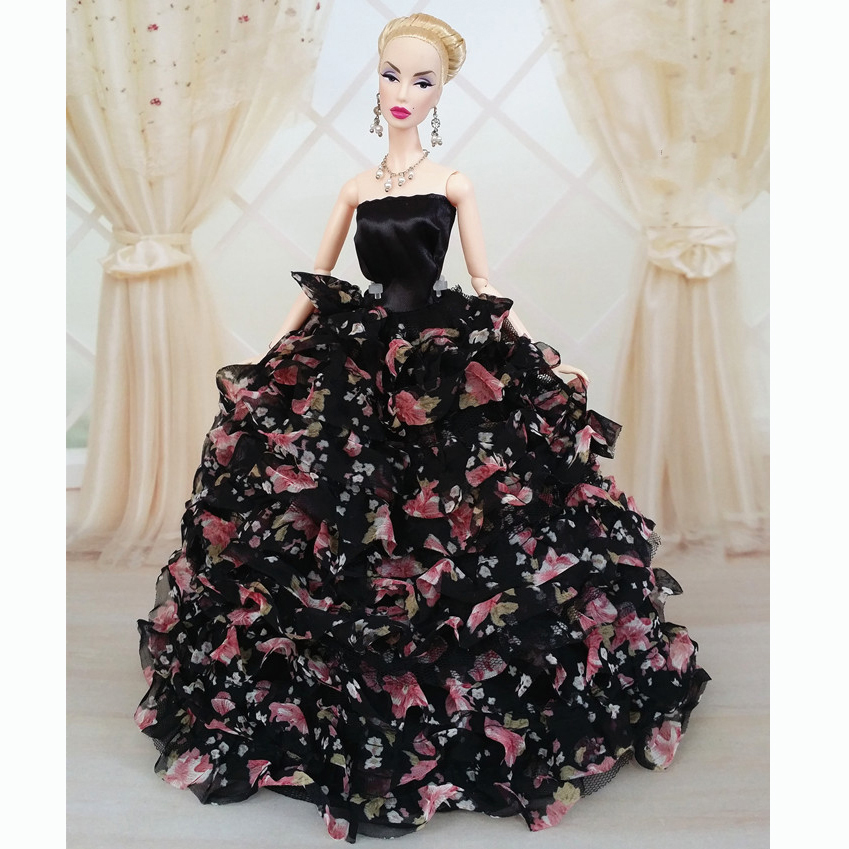Handmade-Wedding-Gown-Dresses-Girl-Party-For-Barbie-Doll-Gorgeous
