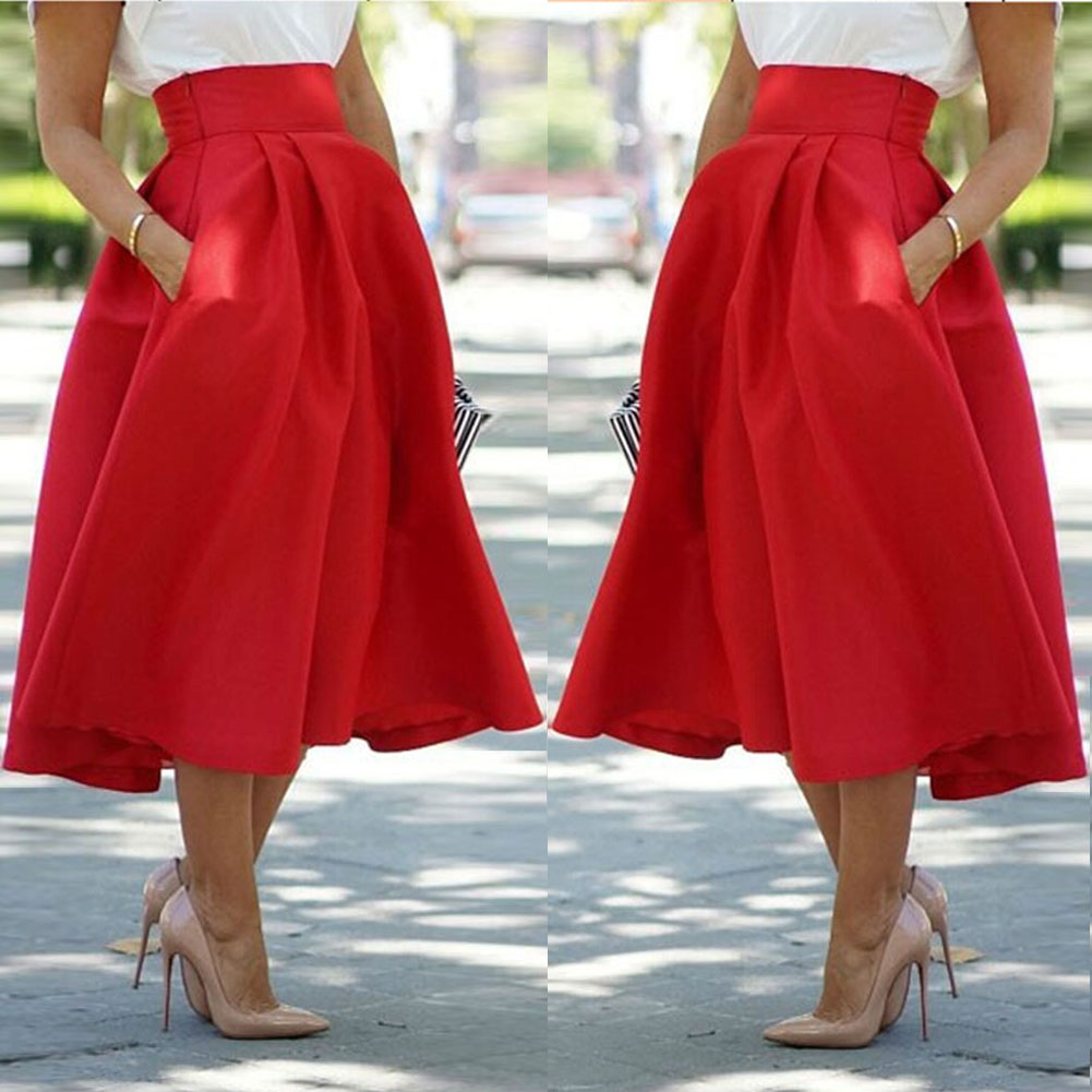 High waist a line maxi skirt – Modern skirts blog for you