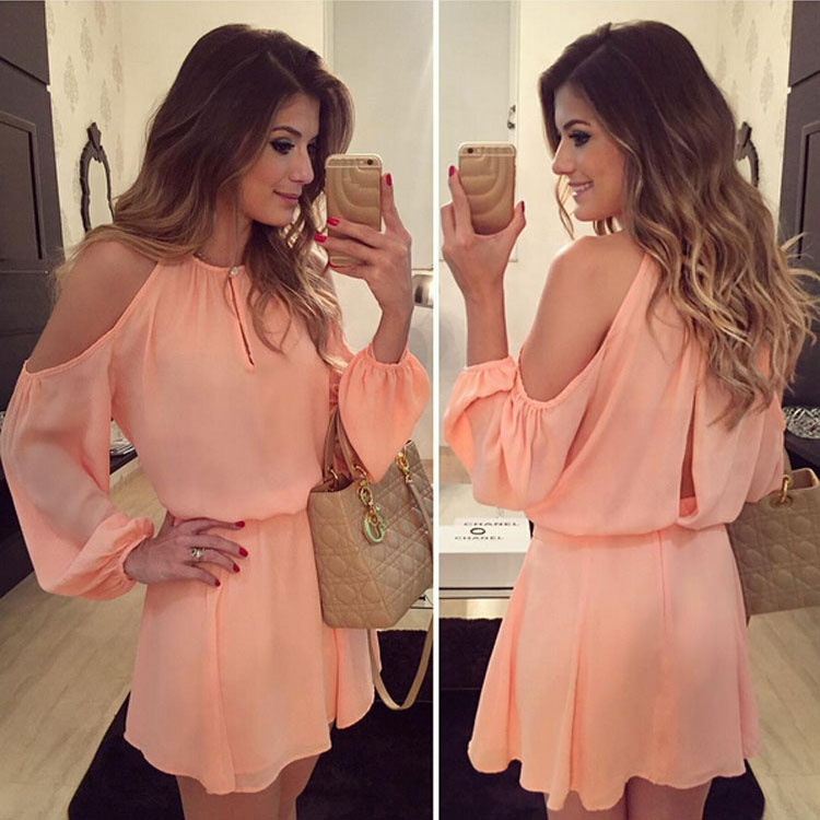 New Women's Sexy Off Shoulder Cocktail Evening Party Mini Sundress Dress