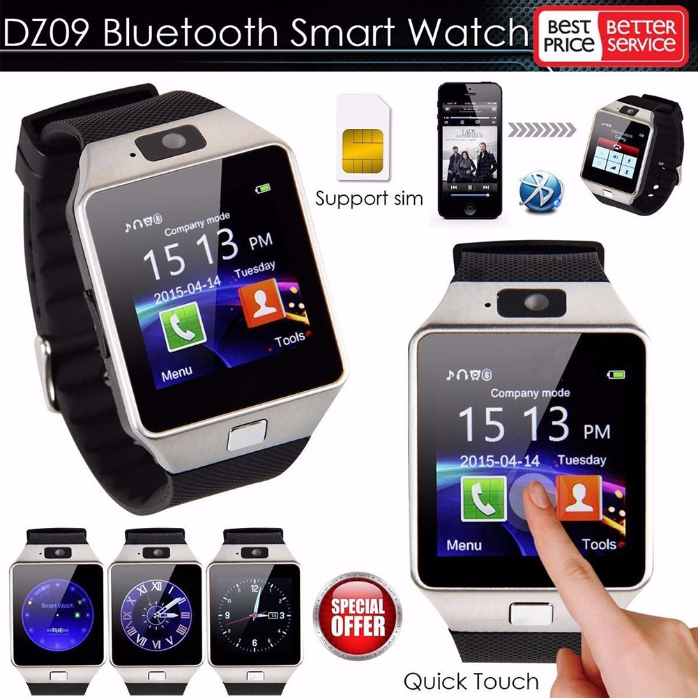 dz09 smartwatch armbanduhr bluetooth ios android f r. Black Bedroom Furniture Sets. Home Design Ideas