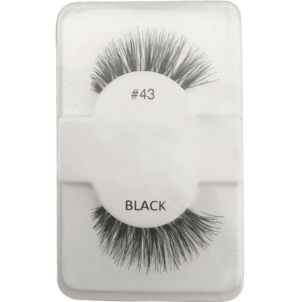 Fashion False Human Hair Eyelashes Makeup Beauty Long Black Glamour Eye lashes