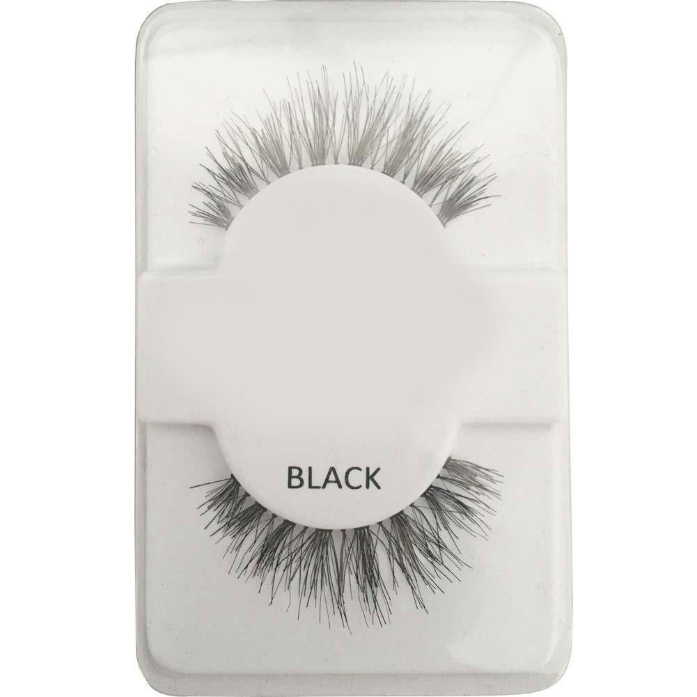 Fashion False Human Hair Eyelashes Makeup Beauty Long Black Glamour Eye lashes