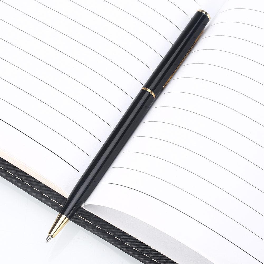 High-Quality-Modern-rotating-Rotated-Metal-ballpoint-pen-Nib-Medium-Black-Gold