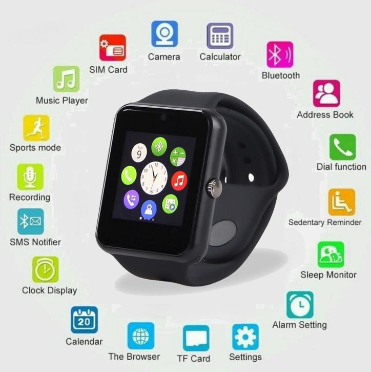 gt08 mtk smartwatch w sim karte f r android phone huawei ebay. Black Bedroom Furniture Sets. Home Design Ideas