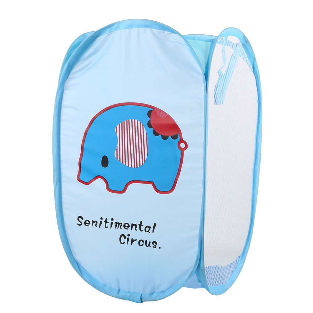 Foldable Washing Clothes Pop Up Hamper Laundry Basket Storage Household