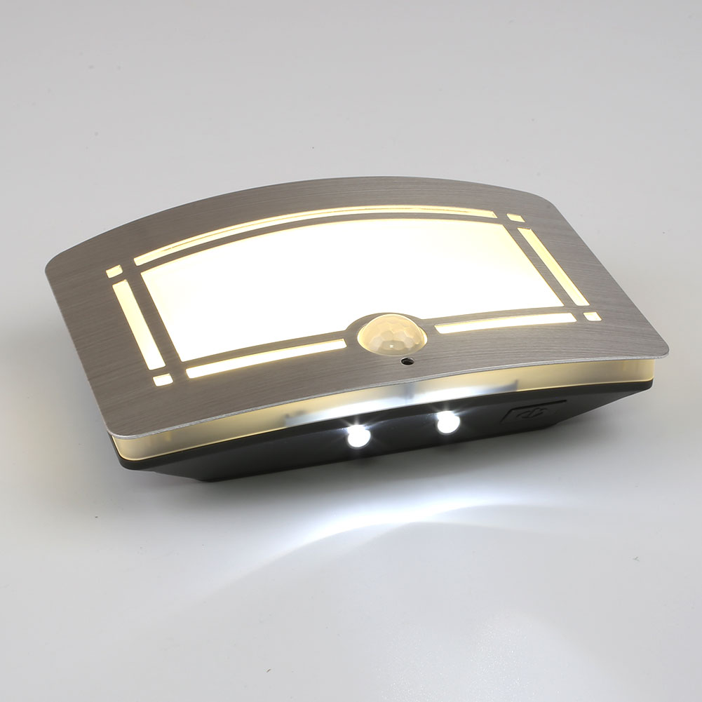 body motion sensor activated battery operated led wall lamp night light outdoor ebay. Black Bedroom Furniture Sets. Home Design Ideas