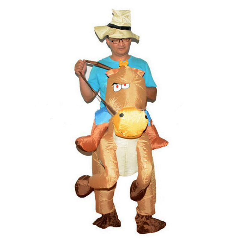 aufblasbares pferdekost m cowboy kost m fasching karnevall pferd reiter anzug ebay. Black Bedroom Furniture Sets. Home Design Ideas