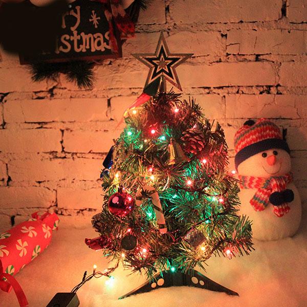 Mini weihnachtsbaum tannenbaum geschm ckt mit led lichterkette dekoration ebay - Weihnachtsbaum mini led ...