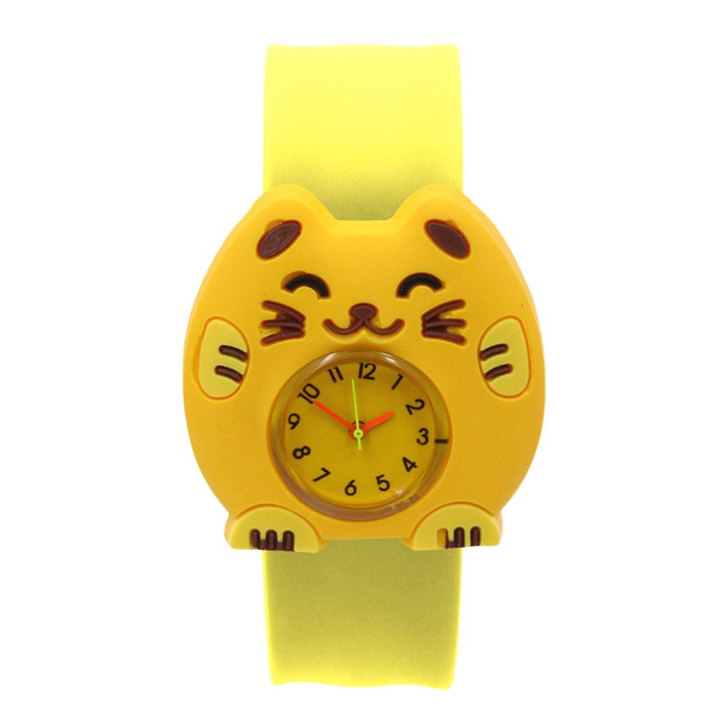 4A06-Cartoon-Unisex-Slap-Snap-On-Silicone-Quartz-Wrist-Watch-Christmas-Gift