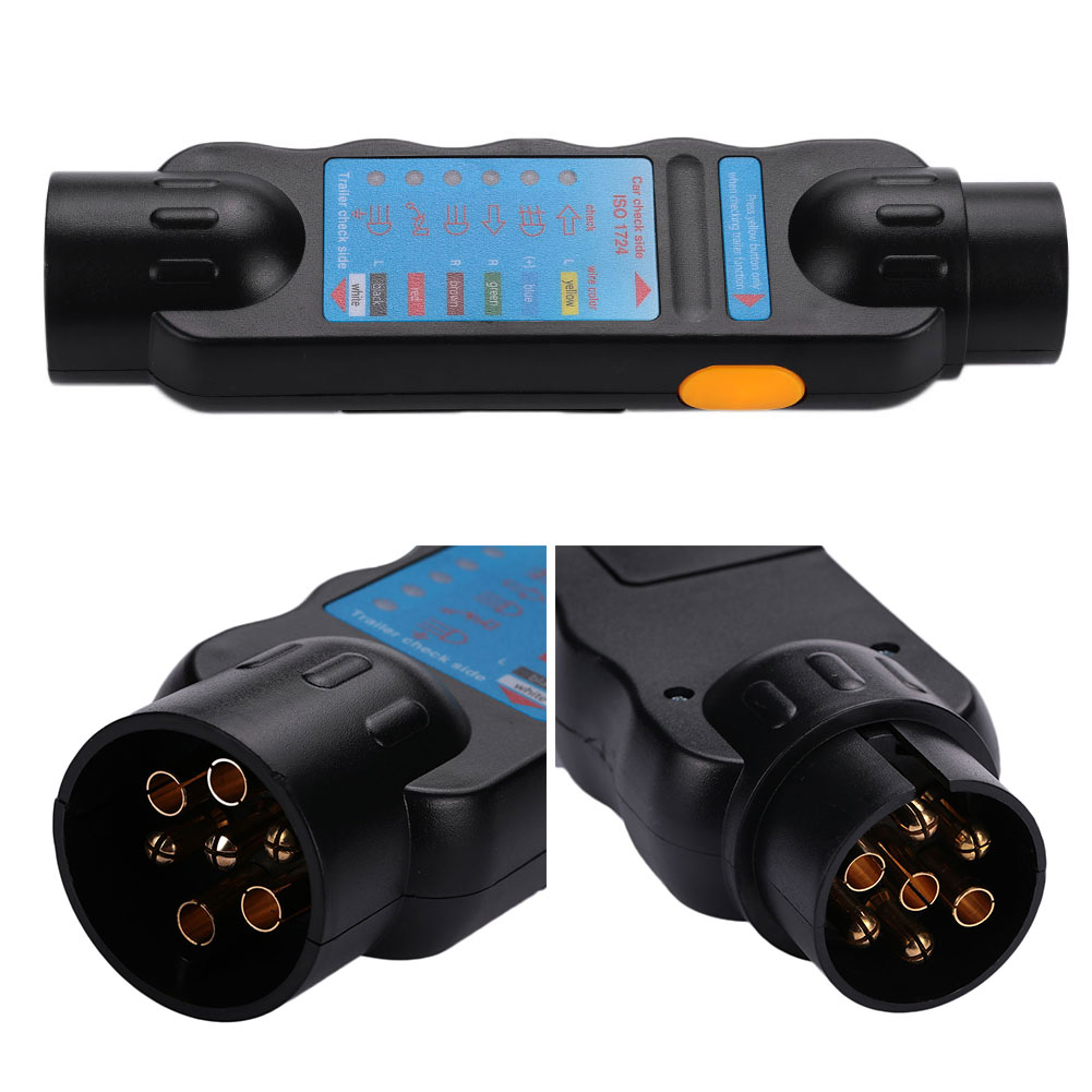 B3ef 12v 7pin Plug Socket Wiring Circuit Tester For Car Trailer How To Wire A Image Is Loading